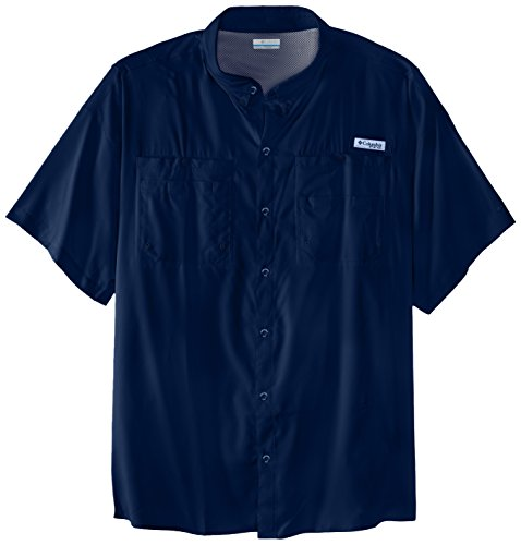 Columbia Men's Tamiami II Short Sleeve Shirt, 4X, Collegiate Navy