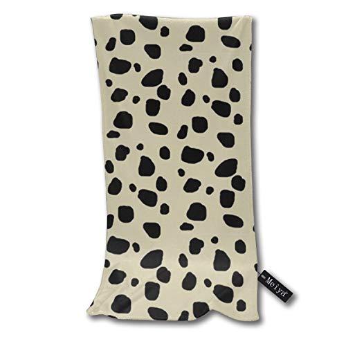 Cheetah Spots MEDIUM Ivory Multi-Purpose Microfiber Soft Fast Drying Travel Gym Home Hotel Office Washcloths