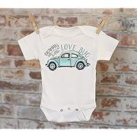 Gramma's Little Lovebug Onesie® in Blue, Cute Onesie, Funny Onesie, Grandma Onesie, Cute Baby Bodysuit, Boho Baby Onesie