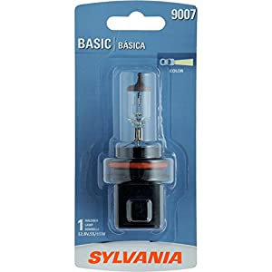 SYLVANIA 9007 Basic Halogen Headlight Bulb, (Contains 1 Bulb)