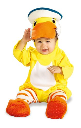 Rubber Ducky Boy Child Costumes (Rubie's Costume EZ-On Romper Costume, Rubber Ducky, 6-12 Months)