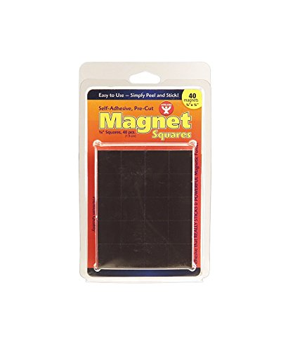 Hygloss Products  Inc  Magnet Squares  Self  Adhesive  3 4 Inch  40 Pcs