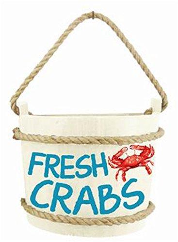 Chesapeake Bay Crab Bucket Hanging Wall Decor (Fresh Crabs)