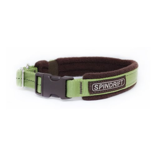 Spindrift Cozy Fleece Lined Dog Collar, Laurel, Small