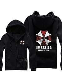 Splendid-Dream Resident Evil umbrella Full-zip Fleece Hoodie