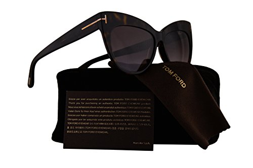Tom Ford FT0523 Nika Sunglasses Dark Havana w/Violet Gradient Lens 52F TF523 FT523 FT 523 TF - Ford Glasses Tom Rimless