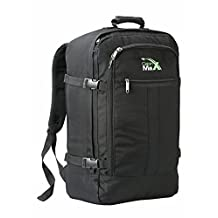"Cabin Max Metz Backpack Flight Approved Carry on Bag Travel Hand Luggage- 22x16x8"" (Black)"