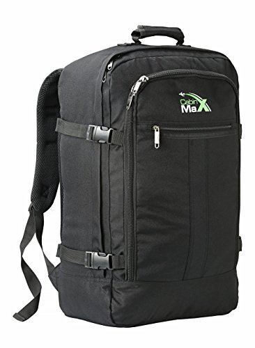 Cabin Max Metz Backpack Flight Approved Carry On Bag 44 Litre Travel Hand Luggage   55X40x20  Black