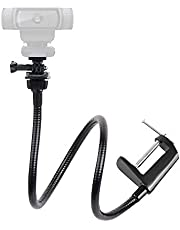 25 inch Flexible Jaw Long Arm Swivel Clamp Mount Stand for Logitech Webcam C922x C922 C930e C930 C920 C615