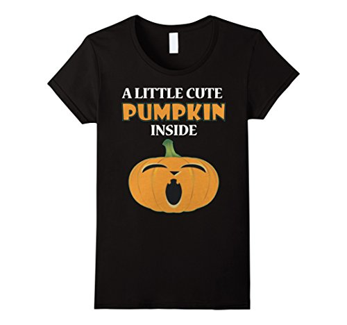 Womens CUTE PREGNANCY COSTUME FOR THIS HALLOWEEN T-SHIRT Small Black