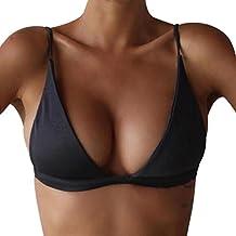 CALALA Women Push-Up Padded Bikini Top Bandeau Swimwear Swimsuit Beachwear