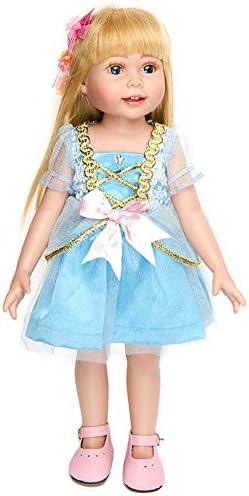 HWD 女の子人形用服とアクセサリー プリンセスコスチューム ウェディングドレス パーティードレス アメリカン18インチ人形用 ブルー H-TA-010120
