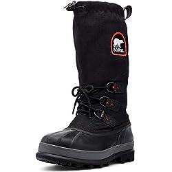 Sorel Men's Bear Extreme Snow Boot,Black/Red Quartz,11 M US