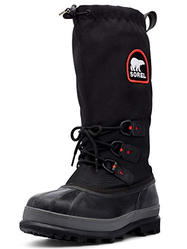 Sorel Men's Bear Extreme Snow Boot,Black/Red Quartz,10 M US