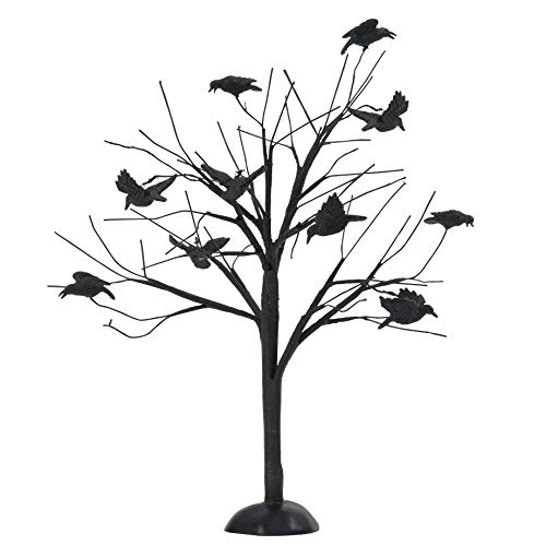 Department 56 Halloween Spooky Tree (Department 56 Halloween Accessories for Village Collections Murder of Crows Tree Figurine, 10.04 Inch,)