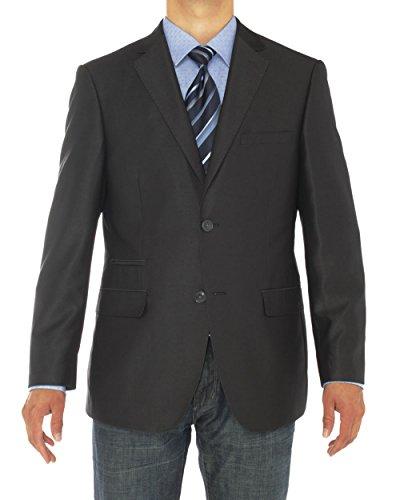 (LN LUCIANO NATAZZI Mens Two Button Notch Lapel Blazer Modern Fit Suit Jacket (50 Regular US / 60R EU,)