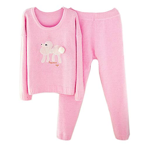Pink Pijamas Espesar Servicio Cálido Manga Doméstico Suave Larga Dulce Y Mmllse Mujer Para De UqOZ44fw