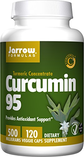 Jarrow Formulas Curcumin 95, Provides Antioxidant Support, 500 mg, 120 Veggie Caps (Caps Formula Veg Support Herbal)