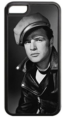 Marlon Brando- TM Hard Black Plastic Case Compatible with the Apple Iphone 5, 5s (not the 5c) Universal-Made in the USA!