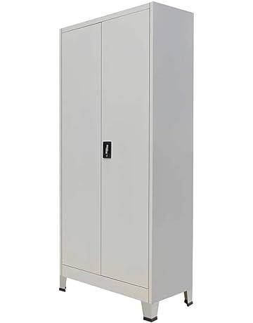 vidaXL Armario de Oficina 2 Puertas Acero 90x40x180 cm Gris Casillero Taquilla