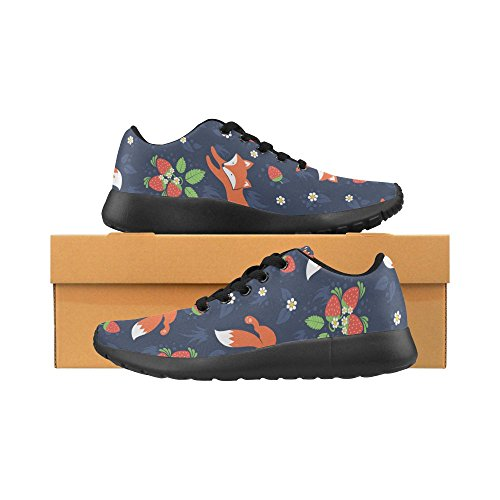 InterestPrint Womens Road Running Shoes Jogging Lightweight Sports Walking Athletic Sneakers Fox and Strawberry FMZWO4VFE