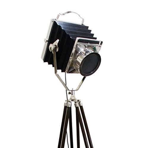 Thor Instruments.Co Thor Vintage Camera Style Chrome Search Light /& Brown Color Tripod Spot Black