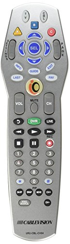 UR2-CBL-CV02 Cablevision Remote Control for Scientific-Atlanta Explorer  1850, 2000, 3000, 4200 and 4250HD Series - Universal for most TVs