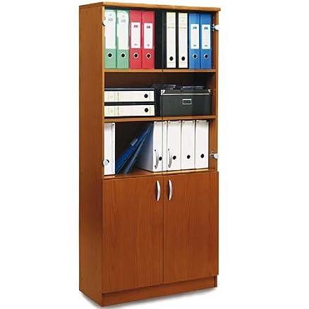 Libreria ufficio studio cameretta colore ciliegio: Amazon.it: Casa ...