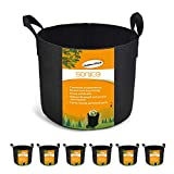 Sonice Set of 6 Pack 7 Gallons Grow Bags, Aeration Fabric Pots with Handles