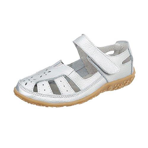 Zapatos para mujer Zapatos de tacon Plataforma Cuñas Ital-Design Silber 5009