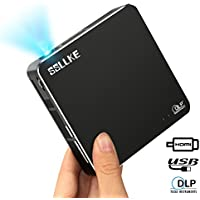 Pocket Projector Portable Video Projector for Smartphone 1080p Pico Projector with 120 Inch Display DLP Projector Compatible HDMI/USB/Audio Cable for Home Theater by SSLLKE