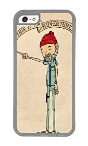 Apple Iphone 5C Case,WENJORS Adorable THIS IS AN ADVENTURE Zissou Soft Case Protective Shell Cell Phone Cover For Apple Iphone 5C - TPU Transparent