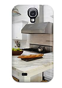 Galaxy Case Cover For Galaxy S4 Retailer Packaging Transitional White Kitchen With Marble Counters Protective Case