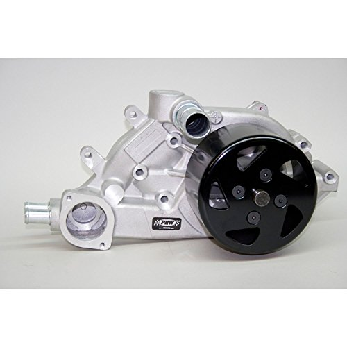 PRW 1434610 Polished Aluminum High Performance Water Pump with Neck for GM LS Generation III//IV