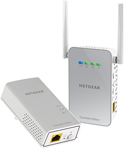Line Network Adapter (NETGEAR PowerLINE 1000 Mbps WiFi, 802.11ac, 1 Gigabit Port - Essentials Edition)