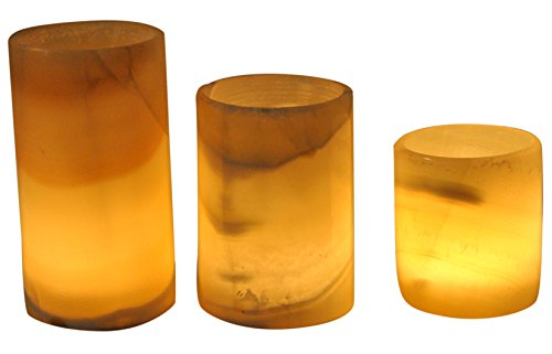 CraftsOfEgypt Egyptian Real Alabaster Stone/Marble Candle Holder Votive Cup Shaped