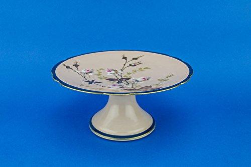 Antique Art Nouveau Floral CAKE PLATE Limoges Cake Serving Porcelain Spectacular 8.9'' Dining Circa 1900 French LS -