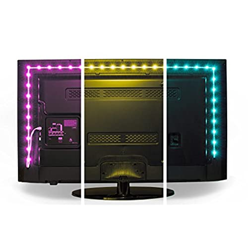 Luminoodle Color Bias Lighting USB TV and Monitor Backlight LED Strip Lights Kit with Dimmer Remote - 6.5 ft for 24  to 29  TV - Medium  sc 1 st  Amazon.com & Home Music Studio Lighting: Amazon.com