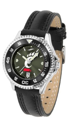 Cincinnati Bearcats Competitor Ladies AnoChrome Watch with Leather Band and Colored Bezel