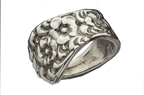 Silver Spoon Silver Plate Vintage Victorian Style Thumb Ring Charlotte R