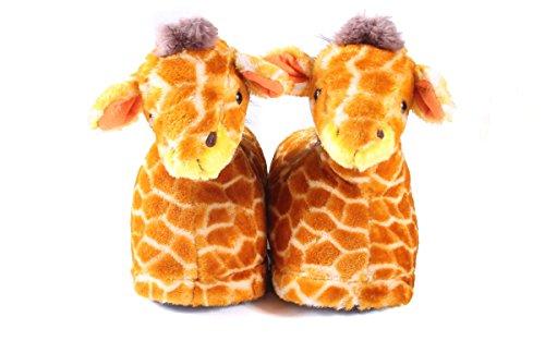 7ad1728a5ab9 Happy Feet Mens and Womens Giraffe Animal Slippers