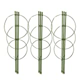 Mini Trellis, Garden Trellis for Potted Climbing Plants Support, Pack of 3, 7''Dia x 7.8''Dia x 8.6''Dia x 23.6''H, 3 Rings