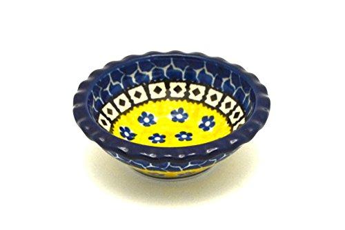 Polish Pottery Dish - Food Prep - Round - Sunburst