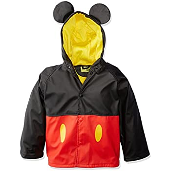 Mickey Mouse Western Chief Kids Disney Character lined Rain Jacket 3T