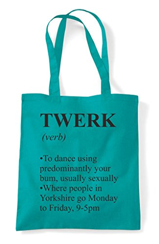 Bag Funny Dictionary In Emerald Shopper The Twerk Not Tote Alternative Definition xnUR44qw8P