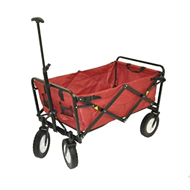 Mac Sports Folding Utility Sports Wagon Deep Red