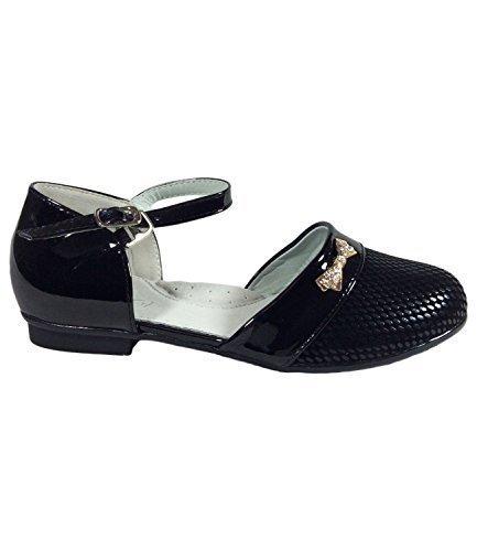 Filles Parti Cérémonie Soirée Chaussures Taille UK 11à 2,5Taille EU 30à 35Noir