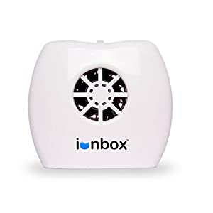 IonPacific ionbox, Negative Ion Generator with Highest Output - Up to 20 Million Negative Ions/Sec, Filterless Mobile Ionizer & Travel Air Purifier USB, Eliminates: Pollutants, Allergens, Mold, Germs