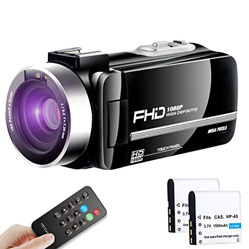 Video Camera Camcorder Ultra HD Vlogging Camera 1080P 30FPS Remote Control IR Night Vision 3.0