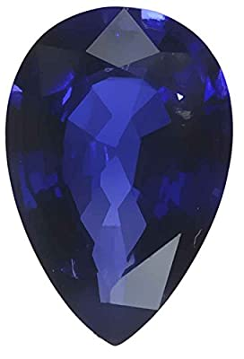 Blue Lab Sapphire Pear Unset Loose Gem Synthetic Corundum 15mmx10mm by uGems
